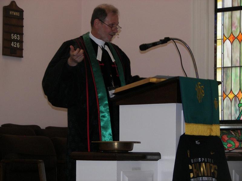 Pastor John's first Sunday